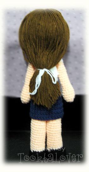 ตุ๊กตาถักไหมพรมนักศึกษาหญิง