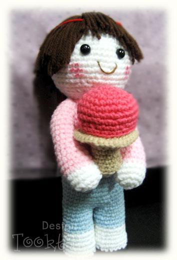ตุ๊กตาถัก Kawaii girl