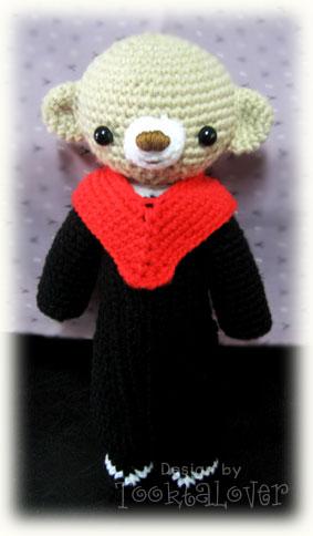 ตุ๊กตาหมีถักไหมพรมรับปริญญา ABAC