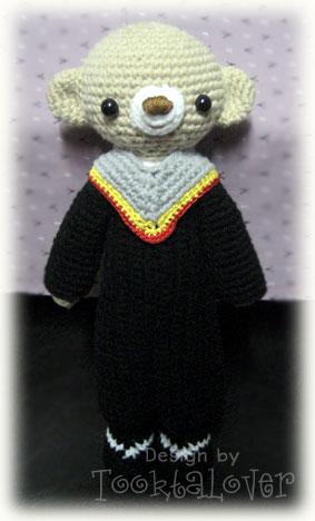 ตุ๊กตาหมีถักไหมพรมรับปริญญา มศว.