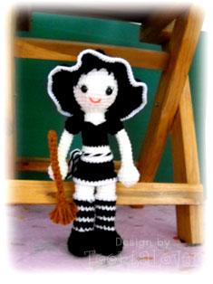 ตุ๊กตาถักไหมพรมเด็กผู้หญิงน่ารัก