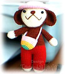ตุ๊กตาลิงน้อยถักไหมพรม