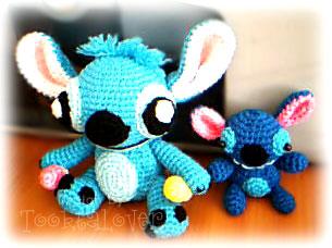 ตุ๊กตา stitch ถักไหมพรม