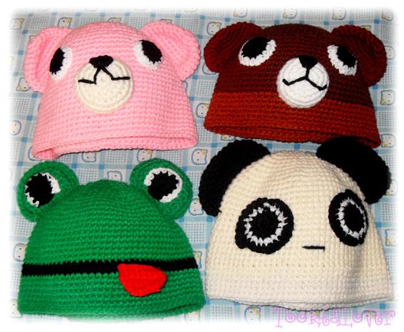 หมวกเด็กถักไหมพรมรูปสัตว์