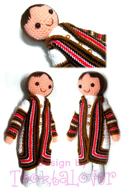 ตุ๊กตาถักไหมพรมรับปริญญา่ราชภัฎสวนสุนันทา