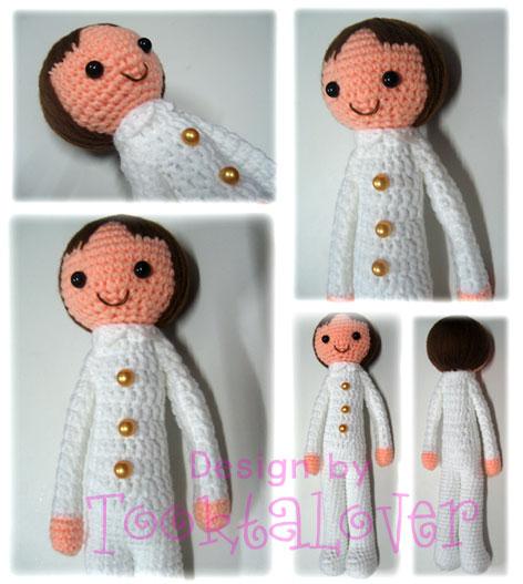 ตุ๊กตาถักไหมพรมรับปริญญาราชภัฎสวนสุนันทา