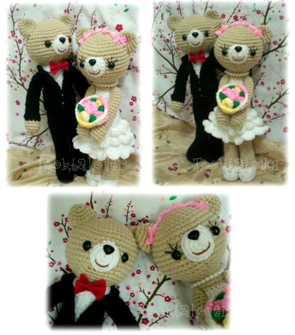 ตุ๊กตาถักไหมพรมแต่งงาน